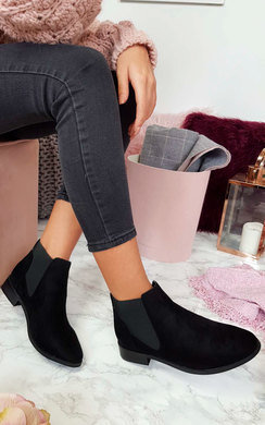 View the Kyla Faux Suede Ankle Boots online at iKrush
