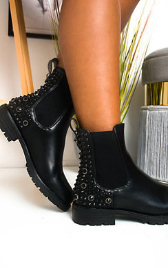 View the Kyle Embellished Ankle Boots  online at iKrush
