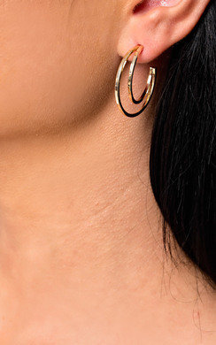 View the Kylee Double Hooped Earrings  online at iKrush