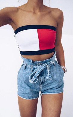 View the Kylie Bandeau Crop Top online at iKrush