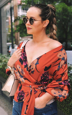 View the Kylie  Floral Ruffled Kimono Wrap Top online at iKrush