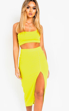 View the Lacey Cropped Bodycon Co-ord online at iKrush