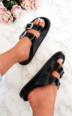 View the Lacey Double Buckled Slip On Sandal  online at iKrush