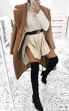 View the Lakenya Faux Suede Knee High Boots online at iKrush