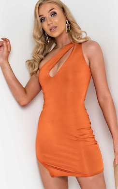 View the Lana Cut Out One Shoulder Mini Dress online at iKrush