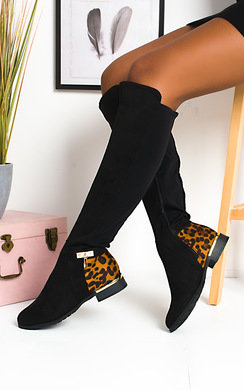 View the Laney Faux Knee High Buckle Boots online at iKrush