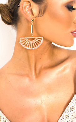View the Lara Geometric Drop Earrings  online at iKrush