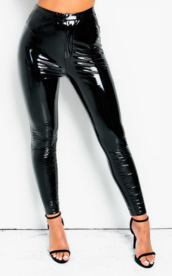 View the Lark High Shine PU Trousers online at iKrush
