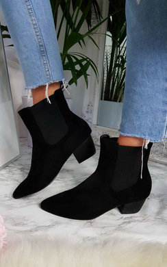 View the Laura Faux Suede Ankle Boots online at iKrush