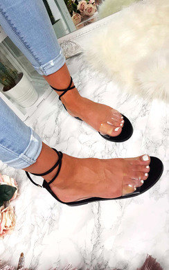 View the Laura Faux Suede Lace Up Sandals online at iKrush