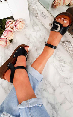 View the Laurel Buckle Strappy Sandal  online at iKrush