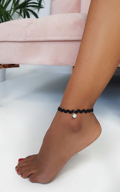 View the Lauren Diamante Charm Wave Anklet online at iKrush