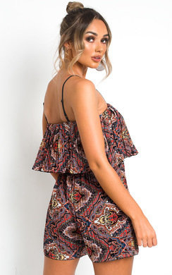 View the Lauren Pleated Overlay Playsuit online at iKrush