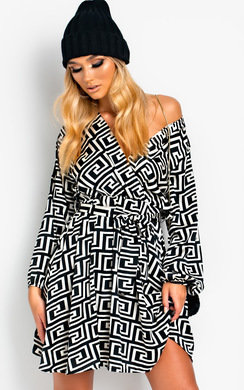View the Laurena Low Cut Tie Waist Dress online at iKrush