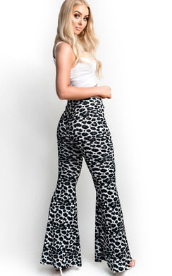 View the Laurie Printed Flared Stretch Trousers  online at iKrush