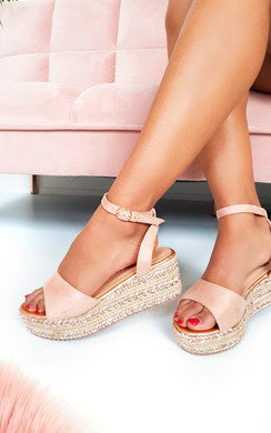View the Lauryn Metallic Detail Flatform Sandals online at iKrush