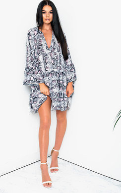 View the Layla Printed Smock Dress online at iKrush
