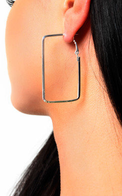 View the Layla Square Hoop Earrings  online at iKrush