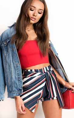 View the Layla Striped Shorts online at iKrush