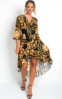 View the Leah Printed Floaty Maxi Dress online at iKrush