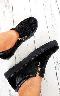 View the Leah Slip On Embellished Trainers online at iKrush
