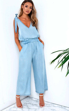 View the Leanne Denim Jumpsuit online at iKrush