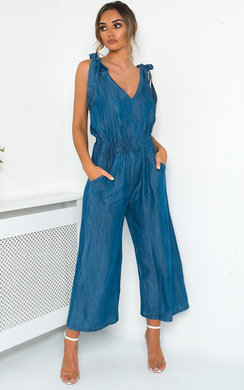 View the Leigh Denim Jumpsuit online at iKrush