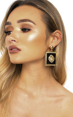 View the Leo Lion Head Statement Earrings  online at iKrush
