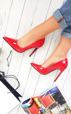 View the Leona Patent Finish Court Heels online at iKrush