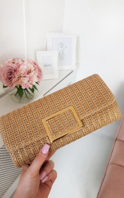 View the Leoni Raffia Clutch Bag online at iKrush