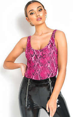 View the Leonie Animal Print Bodysuit online at iKrush