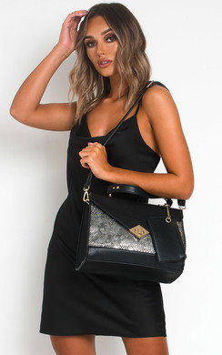View the Lexa Snake Print Handbag online at iKrush