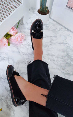 View the Lexi Faux Suede Bow Flat Pumps online at iKrush