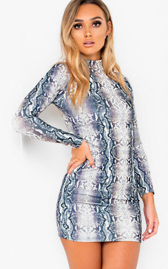 View the Lexis Long Sleeved Bodycon Mini Dress online at iKrush