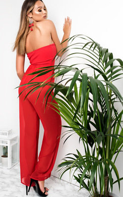 View the Lianna Sheer Wide Leg Trousers online at iKrush