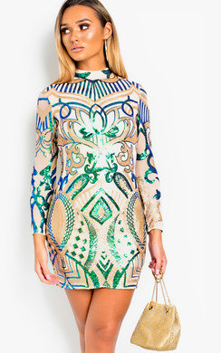 View the Libra Sequin Embellished Bodycon Dress online at iKrush