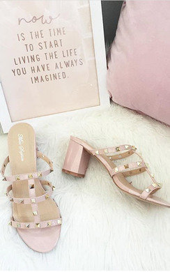 View the Lidia Studded Slip On Heel online at iKrush
