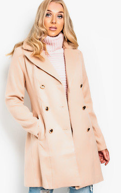 View the Lilla Faux Fur Detail Coat online at iKrush
