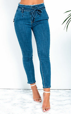 View the Lilla Tie Waist Skinny Jeans online at iKrush