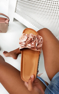 View the Lilli Flower Detail Flatform Sandals online at iKrush