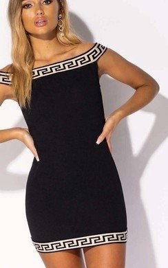 View the Lilli Off Shoulder Bodycon Mini Dress online at iKrush