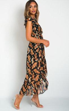 View the Lilly Chiffon Frill Maxi Dress online at iKrush
