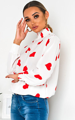 View the Lilly High Neck Chiffon Blouse  online at iKrush