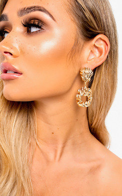 View the Lilly Shell Statement Drop Earrings  online at iKrush