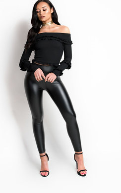 View the Lillz High Waist Pleather Leggings online at iKrush