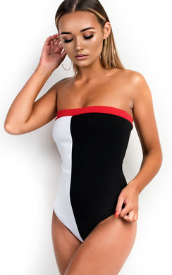 View the Lina Block Strapless Bodysuit online at iKrush