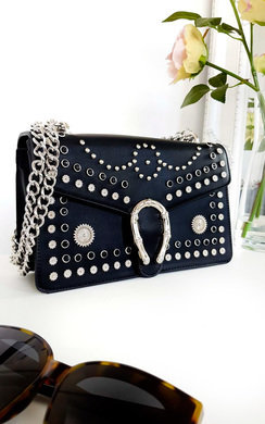 View the Lina Studded Buckle Shoulder Bag online at iKrush