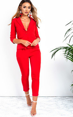 View the Lisa Tailored Blazer And Cropped Trouser Co-ord online at iKrush
