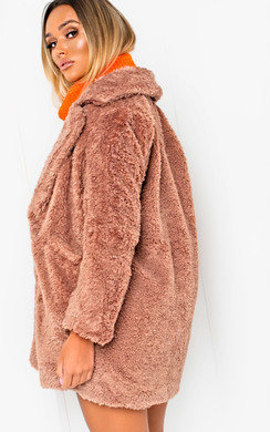 View the Lissy Faux Fur Coat online at iKrush