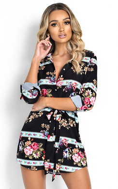 View the Livi Long-lined Floral Shirt Dress online at iKrush